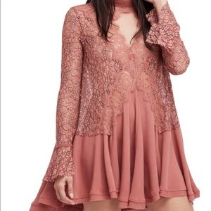 Free People Tops - Free People Tell Tale Lace Tunic